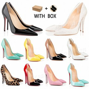 2021 Red Bottom Women Dress shoes Heels high Dust Bag Round Pointed Toes Bottoms Spikes Vintage Studded Luxurys Designers Sneakers a9tt#