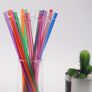 Plastic Drinking Straws for Juice long hard straw food grade material safe healthy durable home party garden use OOB6190