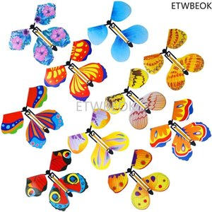 Magic Flying Butterfly Card Wind Up Butterfly in The Book Rubber Band Powered Magic Fairy Flying Toy Great Surprise Gift