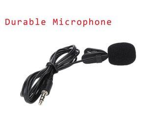 Ly Mini Lavalier Mic 35Mm Jack Tie Clip Microphones Smart Phone Recording Pc Clipon Lapel For Speaking Singing Speech J0Rve Kddck