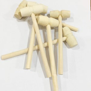 Mini Wooden Hammer Wood Mallets For Seafood Lobster Crab Shell Leather Crafts Jewelry Crafts Dollhouse Playing House Supplie 508 V2