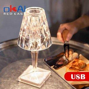 Table Lamps Italian Design Battery Desk Lamp USB Touch Sensor Rechargeable Restaurant Decor Romantic Night Light Bedroom Study