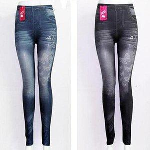 Women's Leggings Slim Women Butterfly Printing Leggin Skinny Jeans Legging Female Casual Denim