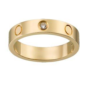 2021 love men ring design fashion jewellery women screw titanium steel luxury designer jewelry classic lovers silver rings designs mens No fading allergy