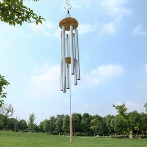 그레이스 깊은 공진 홈 골동품 금속 나무 6 튜브 윈치 메이프 chapel 벨 바람 종소리 장식 수공예 선물