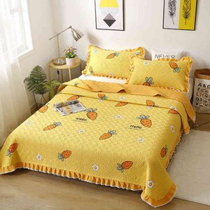 Sheets Three piece pure cotton quilted bed sheet single piece pure cotton summer quilt tatami Kang blanket bed cover