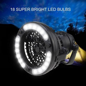 Tent Fan Light Camping Hiking Gear Equipment Outdoor Portable Ceiling Lamp For Fishing No Battery Lanterns