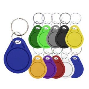 100pcs 13.56mHz 1k S50 Duplicator Copy Tag 0 Bloquer la touche RECUIMABLE FOB RFID Contrôle de contrôle Clone Badge NFC Smart Chip