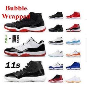 الأردن الأعلى رجل امرأة كرة السلة أحذية jumpman 11 منخفضة بيضاء bred 11 ثانية كونكورد 45 الفضاء مربى الرياضة الأفعى روز الذهب الرجال النساء أحذية رياضية المدربين الأحذية