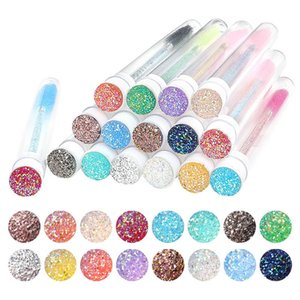 Reusable Diamond Makeup Tool Kits Eyebrow Brush Tube Disposable Eyelash Lash Brushes Replaceable Dust-proof Sparkling