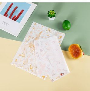 Cake roll coated with oil proof papers western style tray baking packaging paper hamburger paper 100 pcs lot T2I52268