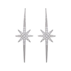 European And American Fashionable Big Exquisite Shiny Zircon Long Stars Wedding Dress Rhinestone Earrings GLE6082 Stud