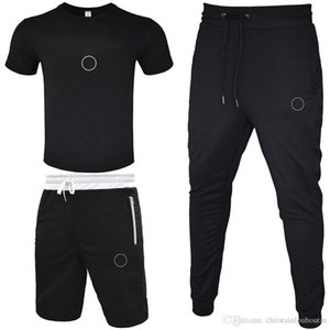 Männer Trainingsanzug 2021 T-shirt + kurze Hose + lange Hose 3 Stück Sets Solid Color Outfit Anzüge Hohe Qualität Trainingsanzüge