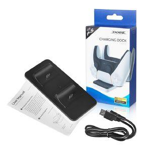 Двойная зарядка док-станции двойное зарядное устройство Craadle зарядное настольное 2 Bay Gampad Power Recharge для Sony PS5 Player Bluetooth контроллеров
