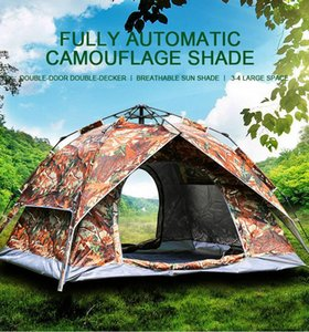Outdoor Tent 3   4 Dual-use Automatic Double-layer Sunscreen Oxford Wear-resistant To Prevent Heavy Rain Tents And Shelters