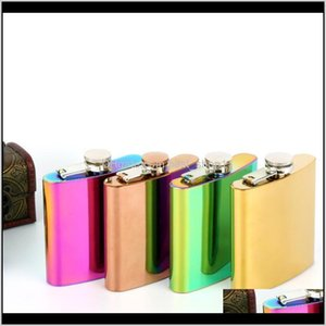 Flasks Drinkware Kitchen Dining Bar Home Garden Drop Delivery 2021 6 Oz High Steel Hip Flask Quality 100Percent Rose Gold Plate Stainless Owe