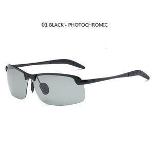 Männer Polarisierte Fahren Sonnenbrille Chamäleon Männliche Änderung Farbe Sonnenbrille Tag Nachtsichtfahrer Eyewear