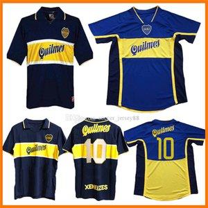 97 98 Boca Junior Retro Jerseys de fútbol Maradona Vintage Veron Caniggia 1997 1998 Maglia Classic 2000 2001 Maillots Camiseta Camisa de Futebol Camisetas de fútbol