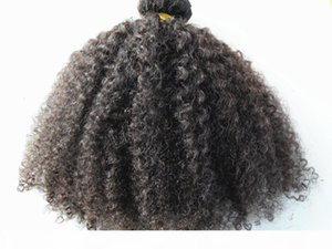 peruvian human hair extensions 9 pieces with 18 clips clip in hair products hair style dark brown natural black color afro kinky curl