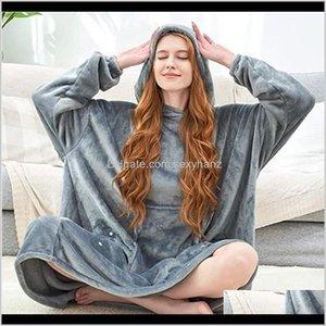 Womens Sweatshirts Women Hoodies Blanket With Sleeves Oversized Hoodie Winter Warm Long Sweatshirt Plush Indoor Sudaderas Mujer W56Lq Fdgdk
