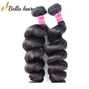 Bella Hair? Wholesale 10~24inch Peruvian Hair Bundles Grade 8A Peruvian Hair Extensions 10pcs lot Natural Color Human Hair Weft