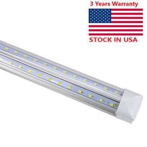 8FT 100W Led Light Bulbs T8 V Shaped Shop lamp Tubes Fluorescent Replacement Garage Mall Lighting 6000K