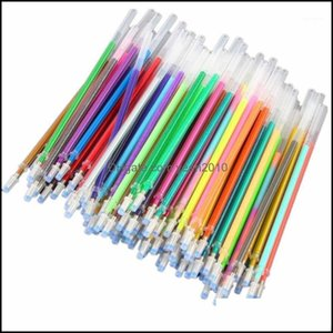 أقلام الكتابة لوازم الأعمال التجارية الصناعية 100 ألوان المائية النيون بريق الباستيل الفن استبدال عبوات جل القلم مكتب المدرسة