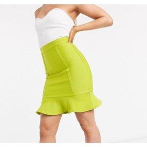 Skirts Winter Women's Bandage Skirt 2021 Sexy Tight-fitting Hip Bust Fishtail Fashion Party Nightclub Vestidos