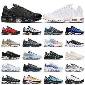 2021 En Kaliteli TN Artı Koşu Ayakkabıları Boyut ABD 12 Üçlü Siyah Sarı Tüm Beyaz Gökkuşağı Hiper Mavi Erkek Bayan Tuned Açık Eğitmenler