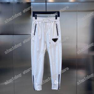 21ss Mens designer pants paris Triangle label printing zipper Men Pant Casual letters Trousers Khaki dark blue
