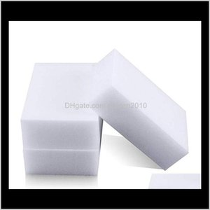 Sponges Scouring Pads 100Pcslot White Magic Eraser Removes Dirt Soap Scum Debris For All Types Of Surfaces Universal Cleaning Sponge H 8Qmro