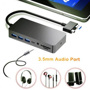 Stations USB 3.0 HUB For Microsoft Surface Pro 4 5 6 HD 4K DP VGA Audio Gigabit Ethernet adapter RJ45 SD TF DocKing base Dock PC