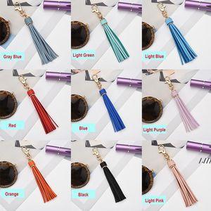 5.9'' PU Leather Tassel DIY Pendant With Lobster Swivel Keychain For Handbag Phone Car Key Jewelry DWD6434