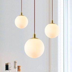 Nordic Modern Glass Ball Pendant Lights Vintage Hoop Led Hanging Lamp For Living Room Restaurant Lamp E27 Light Bulb Gold