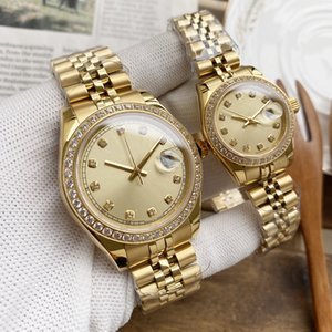 Luxurys Watch Designer Mens Watches أعلى جودة ساعة ميكانيكية فاخرة للرجال الأزياء زوجين الساعات الياقوت مرآة حزام الفولاذ