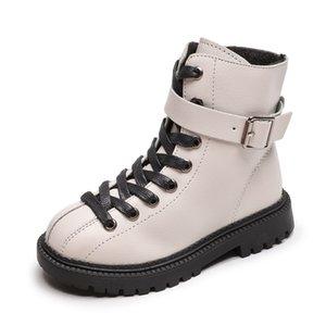 Skoex Boys Girls Boots Invierno niños botas de nieve impermeable lateral cremallera niños botines para niña zapatos Martin Tamaño 27-37