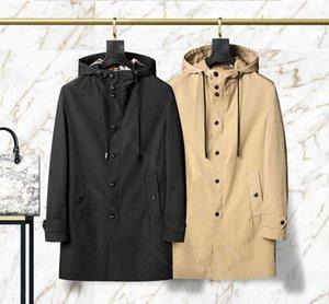 Бренд зимние пальто куртки для мужчин Длинные колена куртка BBRY бренд ветрозащитный и дышащий пальто жеребенок Мужские топы дизайнерская одежда мужчина XL M-XXXL