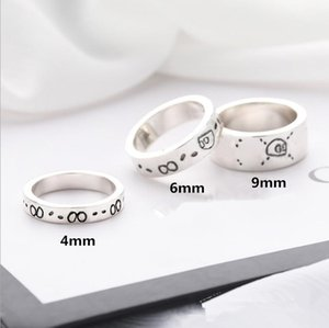 Fashion simple fairy Band Rings couple skull design party shiny men and women jewelry gift for lover does not fade