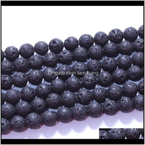 Fashion 8Mm Natural Black Lava Volcanic Stone Loose Buddha Essential Oil Diffuser Charm Beads Jewelry Making Accessories 79 Ax7 Jtm0I