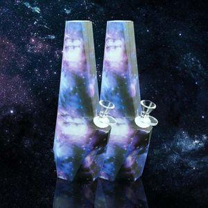 silicone bong bongs diamond dab rigs smoking water pipe hookah 10''*2.8'' hookahs for dry herb glow in the dark