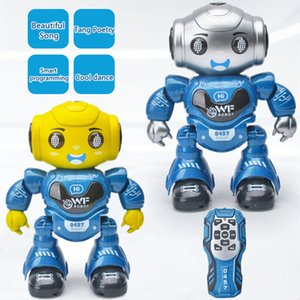 2.4G Smart Recording RC Robot Program Walking Glide Singing Dance Mutil-Function Robot Toy Kids Eductional Toy Boy RC Toy Gifts