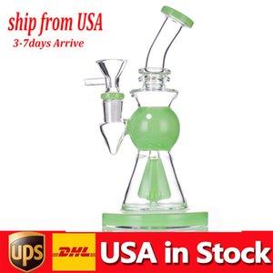 Самый дешевый стеклянный стакан Bong Pipe Pipe DAB Гриб Perc Percolator 10,5 дюйма высотой толстые базовые трубы воды бонги с курильником в наличии США