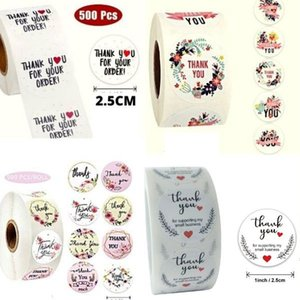 500pcs roll Thank You Birthday Party Quality Seal Label Scrapbook Handmade Round Circle Stationery Food Sticker Paper