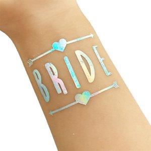 Wedding Decoration Bridal Shower Team Temporary Tattoo Sticker Bachelorette Bride Tribe Flash Tattoos Stickers Bridesmaid Gifts W2VH IFJA