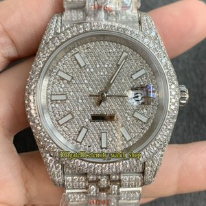 eternity Watches RFF V4 Latest 126334 126331 126333 Diamonds Gypsophila Dial A2824 Automatic Iced Out Mens Watch Diamond 904L Steel Case Five-row chain link Strap
