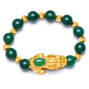 PIXIU rosso nero verde ossidiana perline braccialetto feng shui buona ricchezza braccialetto di fortuna unisex pulsera hombre perline per gioielli facendo 794 q2