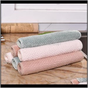 Household Tools Housekeeping Organization Home & Gardencleaning Cloth Nonstick Oil Coral Veet Hanging Towel Kitchen Dish Cloths Cleaning Wip