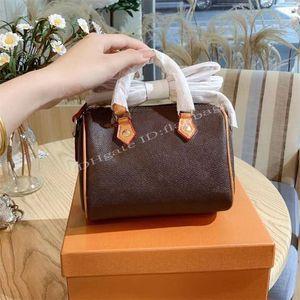 2021 Lady Luxury Fashion M61252 M41112 M41113 Speedy Tote Bag Wallet Classic Shoulder Crossbody Pillow Bags Handbags Purse Women Designer Barrel-shaped Handbag