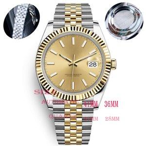 Caijiamin-U1 качество мужские часы 36/41 мм Автоматическое движение Нержавеющая сталь Часы 28/31 Женщины 2813 Механические кварцевые наручные часы светящиеся Монр-де-Люкс
