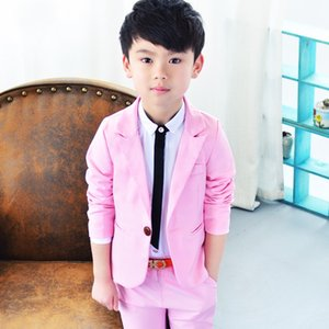 Boys Formal School Suits for Weddings Prince Kids Party Tuxedos Boys Gentlemen Birthday Dress Blazer Pants 2PCS Costume 783 S2